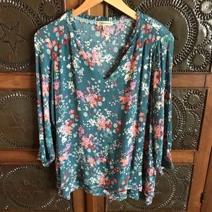Democracy Floral 3/4 Sleeve Blouse